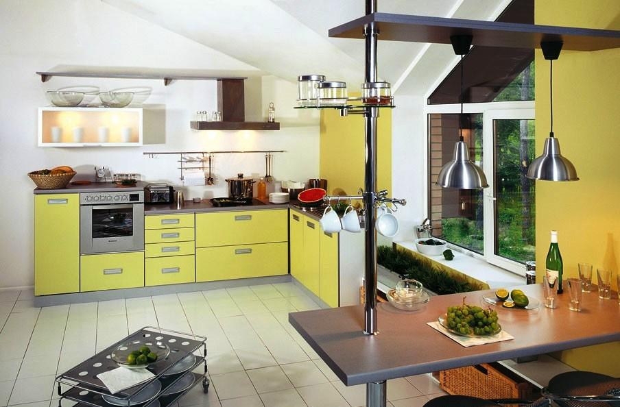 Кухня на заказ из мдф салатовая
